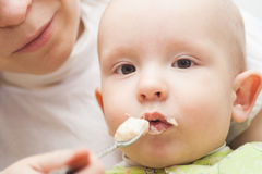 Baby food stock photography