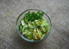 Salad of celery, cucumber, grated apple Stock Photography