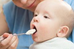 Baby food Royalty Free Stock Photos