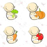 Baby food icons and logos Stock Photography