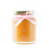 Baby Food in jar on white background, brandless Royalty Free Stock Photography