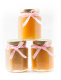 Baby Food in jars on white background, brandless Royalty Free Stock Images