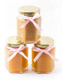 Baby Food in jars on white background, brandless Royalty Free Stock Photography
