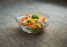 Vegetable salad with sweet peppers Stock Images