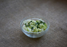 Chinese cabbage salad with parsley Royalty Free Stock Photography