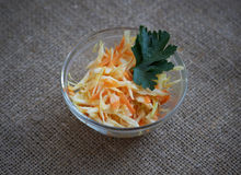 Salad with cabbage and carrots  Royalty Free Stock Images