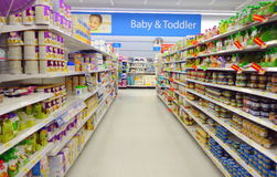 Baby Food Products Stock Image