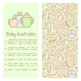 Baby food rules booklet royalty free illustration