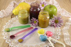 Baby food still life 2 Stock Images