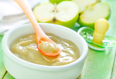 Baby food. On a table Stock Photo