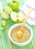 Baby food. On a table Royalty Free Stock Photos