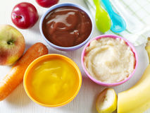 Baby food Royalty Free Stock Photos