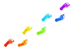 Free Baby Foot Prints All Colors Of The Rainbow. Stock Photos - 29448713