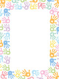 Baby foot prints pastel coloured vector illustration. Frame Royalty Free Stock Images