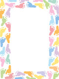 Baby foot prints pastel coloured vector illustration Stock Images