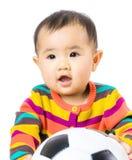 Baby football lover Stock Photo
