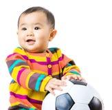 Baby football lover Stock Photography