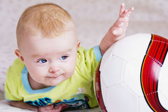 Baby football player Royalty Free Stock Images