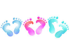 Baby footprint royalty free illustration
