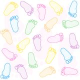 Baby footprint Royalty Free Stock Images