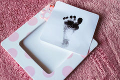 Baby Footprint Stock Photography