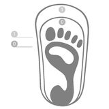 Baby footprint icon Stock Images
