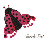 Baby footprint with ladybug  Stock Image