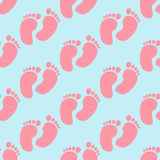 Baby footprint pattern Stock Photo