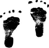 Baby footprints vector illustration