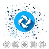 Baby footprints icon. Child barefoot steps. Royalty Free Stock Photography