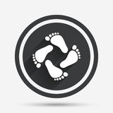 Baby footprints icon. Child barefoot steps. Stock Photography