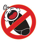 Baby forbidden sign Stock Image