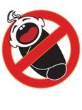 Baby forbidden sign. Illustration of children prohibited sign Stock Image