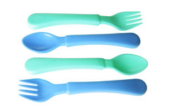 Baby Forks and Spoons Royalty Free Stock Image