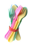 Baby Forks and Spoons. On White Background Stock Image