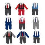 Baby-formale Parteiabnutzung mit Bindung, Vektorillustration Lizenzfreies Stockfoto