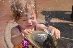 Baby in fountain Royalty Free Stock Photos