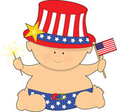 Baby Fourth of July vector illustration
