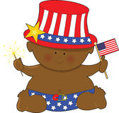 Baby Fourth of July Black stock illustration