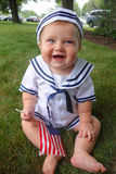 Baby on fourth 4th of july royalty free stock image