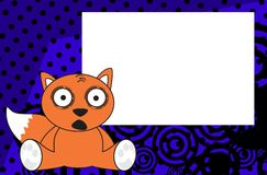 Baby fox expressions cartoon background Stock Photos