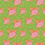 Baby fox pattern Stock Photo