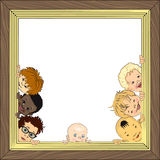 Baby frame Royalty Free Stock Photography