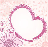 Baby Frame. Cute hand drawn  frame with baby elements Royalty Free Stock Photos