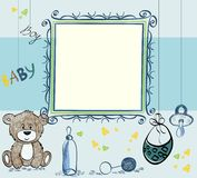 Baby Frame. Cute hand drawn  frame with baby elements Royalty Free Stock Photography
