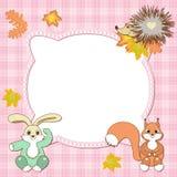 Baby frame animals Stock Photos
