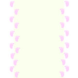 Baby frame with  baby footprints pink Stock Photos