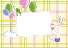 Baby frame background Stock Photo