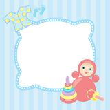 Baby frame Stock Image