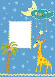 Baby frame or card. Vector illustration Royalty Free Stock Image